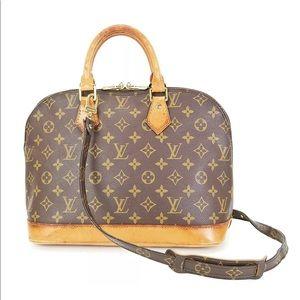LOUIS VUITTON Alma Monogram 2-Way Shoulder Bag